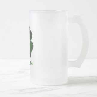 St. Patricks Day, Rub this for Luck! Frosted Glass Mug