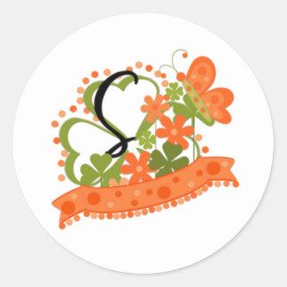 St. Patrick's Day S Round Sticker