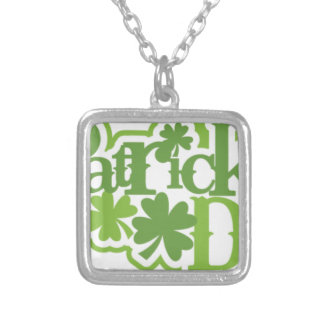 St Patrick's day, Saint Patrick Irish design Silver Plated Necklace
