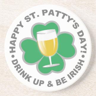 St. Patrick's Day sandstone coaster