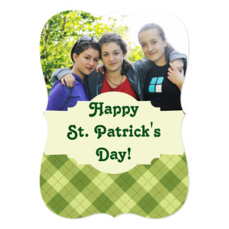 St. Patrick's Day Scalloped Photo Card