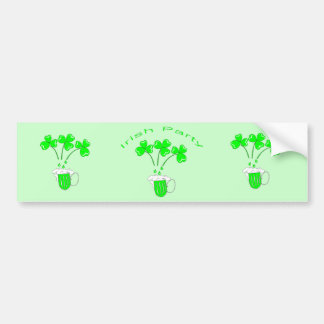 St. Patrick's Day Secrets of brewing and malting Car Bumper Sticker