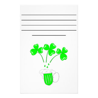 St. Patrick's Day Secrets of brewing Customized Stationery