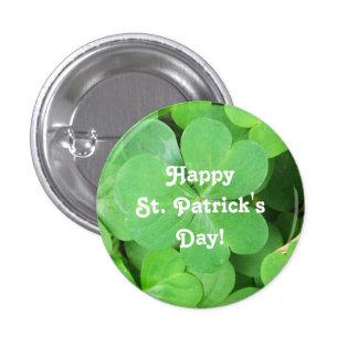 St. Patrick's Day Shamrock 3 Cm Round Badge