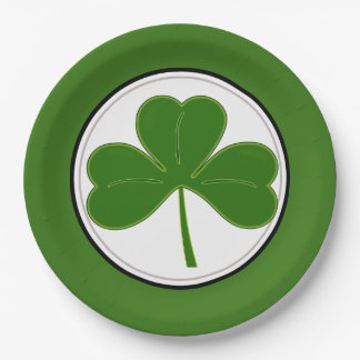 St. Patricks Day Shamrock 9 Inch Paper Plate