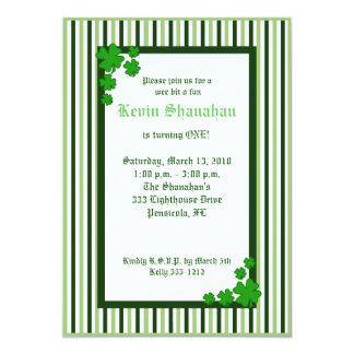 St. Patrick's Day Shamrock Birthday Invitation 5x7