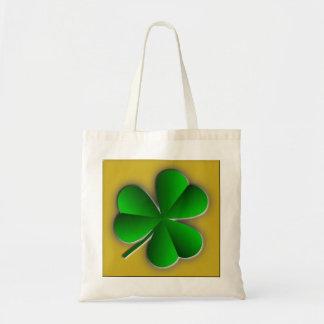 St Patricks Day Shamrock Budget Tote Bag