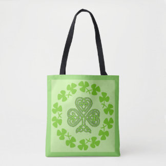 St. Patrick's Day Shamrock Celtic Art Tote