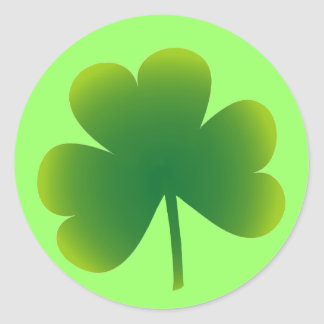 St. Patricks Day Shamrock Classic Round Sticker