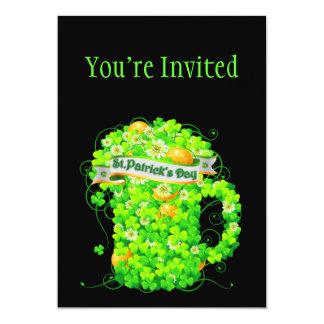 St. Patrick's Day Shamrock Grog 13 Cm X 18 Cm Invitation Card