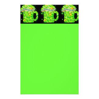 St. Patrick's Day Shamrock Grog Stationery Design