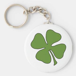 St Patrick's Day - Shamrock Basic Round Button Key Ring