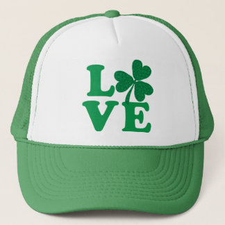 St. Patrick's Day shamrock love Trucker Hat