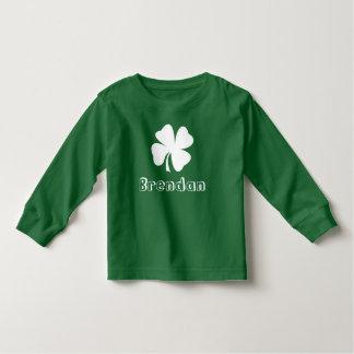 St. Patrick's Day | Shamrock Name Toddler T-Shirt
