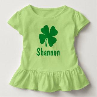 St. Patrick's Day   Shamrock Name Toddler T-Shirt