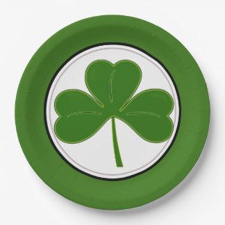 St. Patricks Day Shamrock Paper Plate