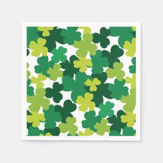 St. Patrick's Day Shamrock Pattern Paper Napkin