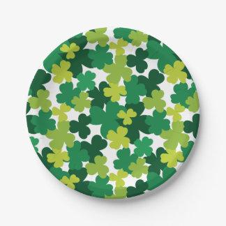 St. Patrick's Day Shamrock Pattern Paper Plate