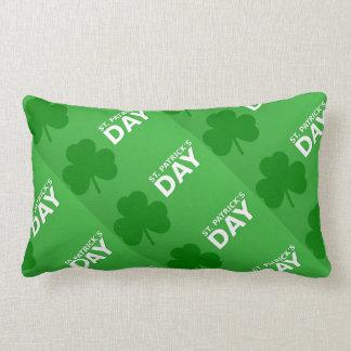 St Patrick's Day Shamrock Pattern Reversible Lumbar Cushion