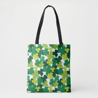 St. Patrick's Day Shamrock Pattern Tote Bag
