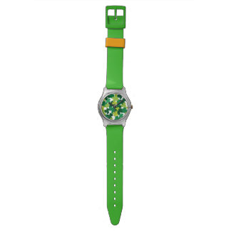 St. Patrick's Day Shamrock Pattern Watch