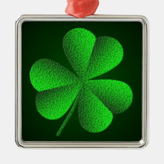 St Patrick's Day Shamrock Premium Square Ornament