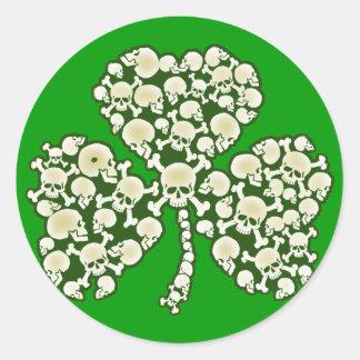 St Patricks Day Shamrock Skulls Sticker