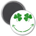 St Patrick's Day Shamrock Smiley face humour Magnet