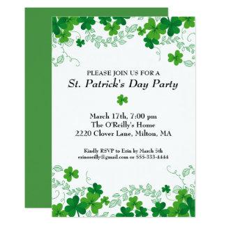 St. Patrick's Day Shamrock Vine Irish Party Card