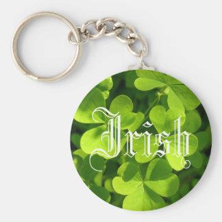St. Patrick's Day Shamrocks Basic Round Button Key Ring