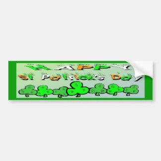 St Patrick's Day Shamrocks Bumper Sticker