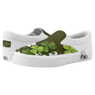 St. Patrick's Day Shamrock's - Customize Printed Shoes