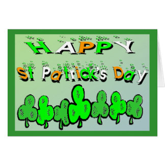 St Patrick's Day Shamrocks Greeting Card