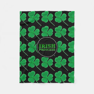 St. Patrick's Day Shamrocks | Irish Princess Hers Fleece Blanket