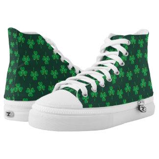St. Patrick's Day Shamrocks Printed Shoes