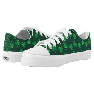 St. Patrick's Day Shamrocks Printed Shoes