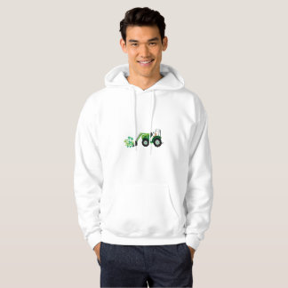 St. Patrick's Day Shamrocks Tow Truck For Boy Kids Hoodie