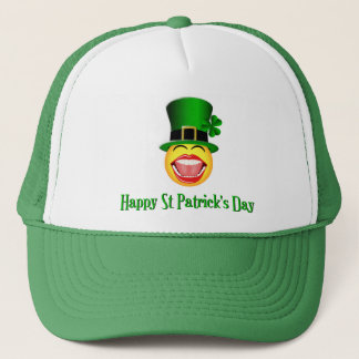 St Patrick's Day Smiley Face Drinking Team Hat