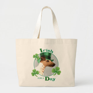 St. Patrick's Day Smooth Fox Terrier Jumbo Tote Bag