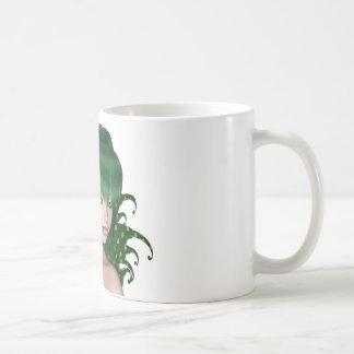 St. Patrick's Day Sprite 1 - Green Fairy Basic White Mug