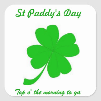 St Patrick's Day Square Sticker