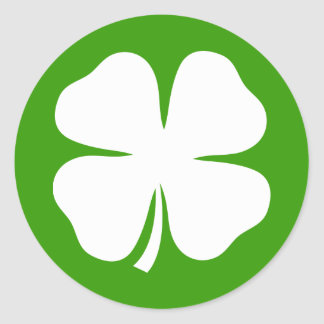 St Patricks Day stickers with lucky charm clovers