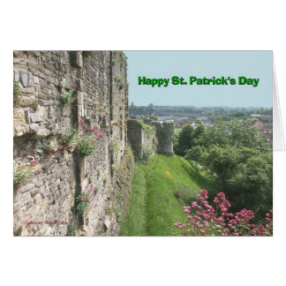 St Patrick's Day Stone Wall and Landscape Card