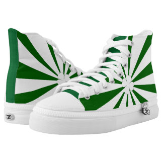 St. Patricks Day Stripes - Zips High Top Shoes Printed Shoes