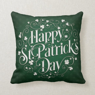 St. Patrick's Day - Swirled Word Art Cushion