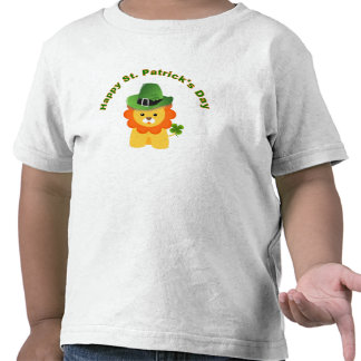 St Patrick's Day T shirt Funny Kid Shirt Lion