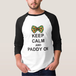 St Patricks Day T-Shirt KEEP CALM and PADDY ON bow