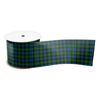 "St. Patrick's Day Tartan - Blue/Green 3"" Satin Ribbon"