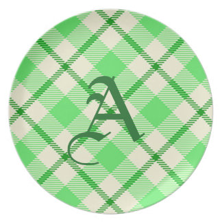 St. Patrick's Day Tartan Plaid Green Plate