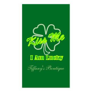 St Patrick's Day Team Irish Kiss me I am lucky Pack Of Standard Business Cards
